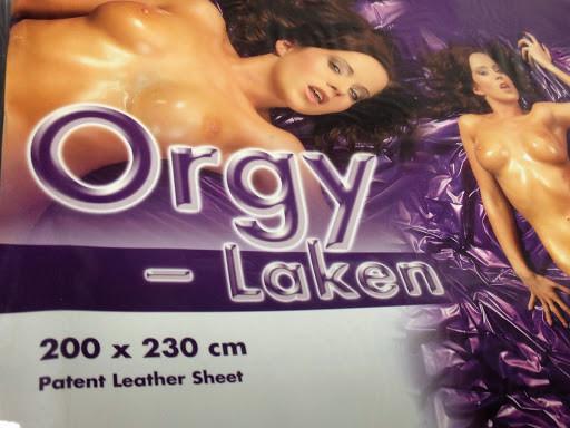 Orgy Qualtitäts-Laken aus Vinyl Lila 200x230 cm  Bettlaken kein Latexlaken Lack
