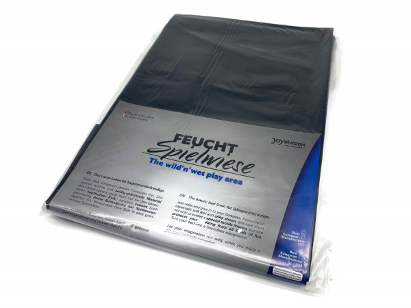 Lack Qualititäts-Laken Latex-frei schwarz 180x260 cm Bettlaken bis 95° waschbar