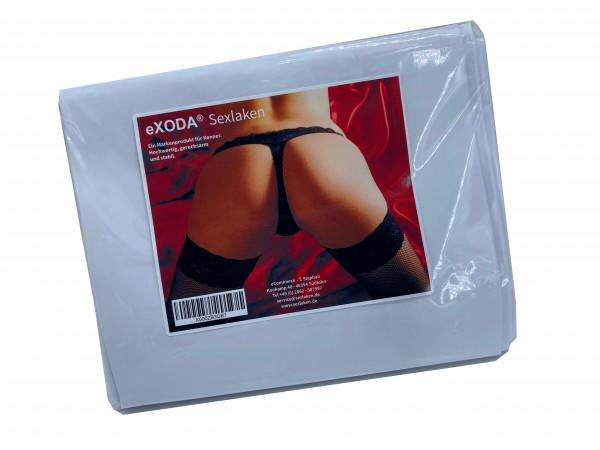 Sexlaken wasserdicht Bettlaken Bettwäsche weiss 200x230 cm kein Latex