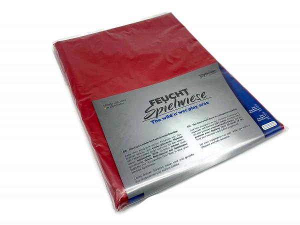 Lack Qualtitäts-Laken rot 180x260 cm  Bettlaken bis 95° waschbar kein Latexlaken