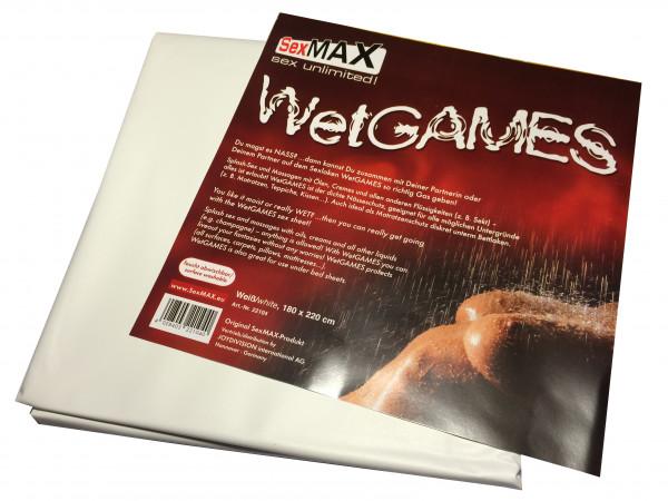Sexmax Lack Qualtitäts-Laken Vinyl 180x220cm weiss Bettlaken kein Latex Lack